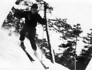 Eyvin tar sig ner för Himmelberget