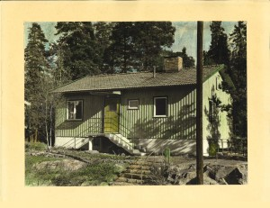 Handkolorerat foto från 1940-talet