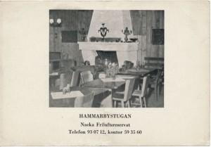 Reklamkort för Hammarbystugan.